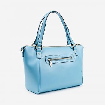 Túi xách da Carlo Rino màu xanh da trời